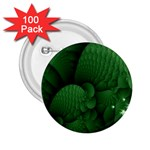 Green Fantasy Fish World Fractal 2.25  Button (100 pack)
