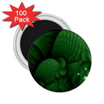 Green Fantasy Fish World Fractal 2.25  Magnet (100 pack)