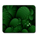 Green Fantasy Fish World Fractal Large Mousepad