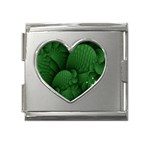 Green Fantasy Fish World Fractal Mega Link Heart Italian Charm (18mm)