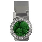 Green Fantasy Fish World Fractal Money Clip (CZ)