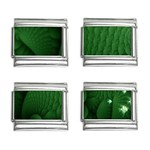 Green Fantasy Fish World Fractal 9mm Italian Charm (4 pack)