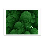 Green Fantasy Fish World Fractal Sticker (A4)