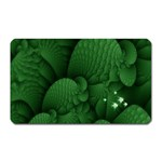 Green Fantasy Fish World Fractal Magnet (Rectangular)