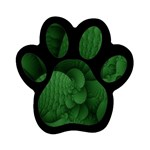 Green Fantasy Fish World Fractal Magnet (Paw Print)