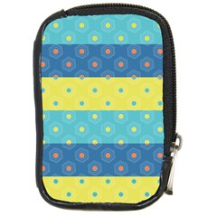 Hexagon And Stripes Pattern Compact Camera Cases