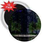 Dark Gothic City Garden at Night 3  Magnet (10 pack)
