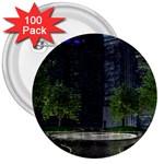 Dark Gothic City Garden at Night 3  Button (100 pack)