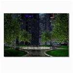 Dark Gothic City Garden at Night Postcard 4 x 6  (Pkg of 10)
