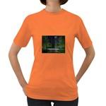 Dark Gothic City Garden at Night Women s Dark T-Shirt