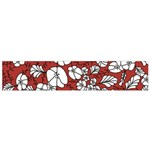 Cvdr0098 Red White Black Flowers Flano Scarf (Small)