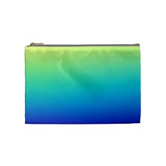 Purple Blue Green Cosmetic Bag (medium)