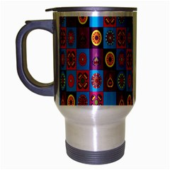 Batik Travel Mug (silver Gray) by AnjaniArt