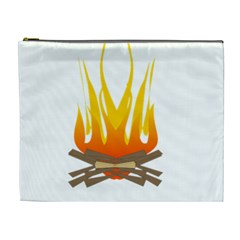 Fire Cosmetic Bag (xl) by AnjaniArt