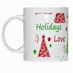 New Year Pattern White Mugs by Valentinaart