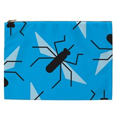 Mosquito Blue Black Cosmetic Bag (xxl)