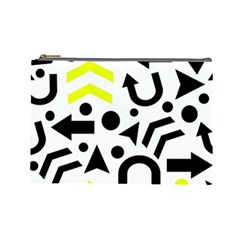 Yellow Right Direction  Cosmetic Bag (large)  by Valentinaart