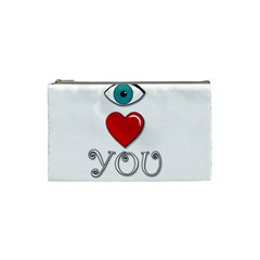 I Love You Cosmetic Bag (small)  by Valentinaart