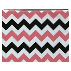 Chevron Crazy On Pinterest Blue Color Cosmetic Bag (xxxl)  by AnjaniArt