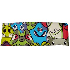 Colourful Monster Flooring Body Pillow Case Dakimakura (two Sides) by AnjaniArt