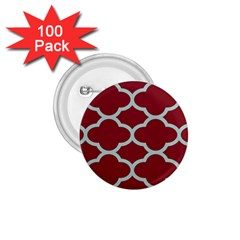 Flower Red Light Blue 1 75  Buttons (100 Pack)