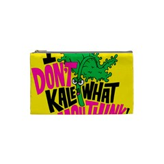 Idont Kale Think Cosmetic Bag (small)  by AnjaniArt