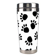 Paws Black Animals Stainless Steel Travel Tumblers by AnjaniArt