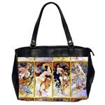 Alfons Mucha 1895 The Four Seasons Oversize Office Handbag (2 Sides)