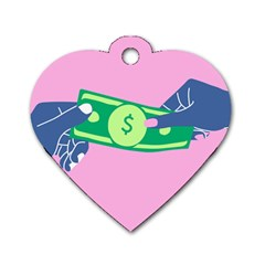 Money Dog Tag Heart (two Sides)