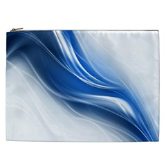 Light Waves Blue Cosmetic Bag (xxl)