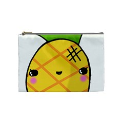 Kawaii Pineapple Cosmetic Bag (medium)  by CuteKawaii1982