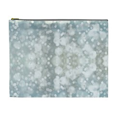 Light Circles, Blue Gray White Colors Cosmetic Bag (xl) by picsaspassion