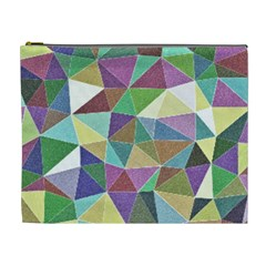 Colorful Triangles, Pencil Drawing Art Cosmetic Bag (xl) by picsaspassion