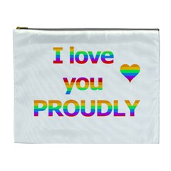 Proudly Love Cosmetic Bag (xl) by Valentinaart