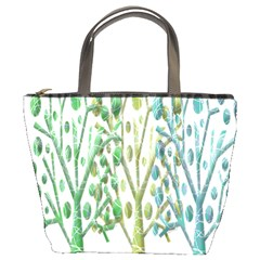 Magical Green Trees Bucket Bags by Valentinaart