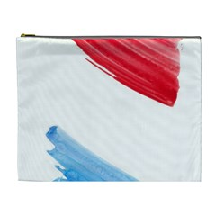 Tricolor Banner Flag, Red White Blue Cosmetic Bag (xl) by picsaspassion