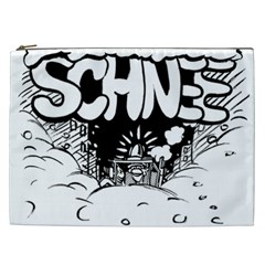 Snow Removal Winter Word Cosmetic Bag (xxl)