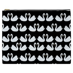 Swan Animals Cosmetic Bag (xxxl)  by AnjaniArt