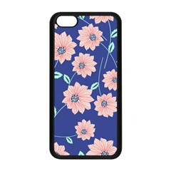 Seamless Blue Floral Apple Iphone 5c Seamless Case (black) by AnjaniArt