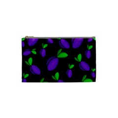Plums Pattern Cosmetic Bag (small)  by Valentinaart
