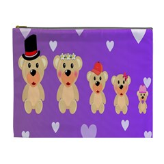 Happy Bears Cute Cosmetic Bag (xl) by Jojostore