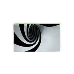 Hole Black White Cosmetic Bag (xs) by Jojostore