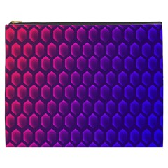 Outstanding Hexagon Blue Purple Cosmetic Bag (xxxl)  by Jojostore