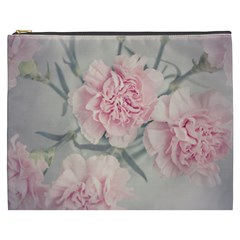 Cloves Flowers Pink Carnation Pink Cosmetic Bag (xxxl)  by Amaryn4rt