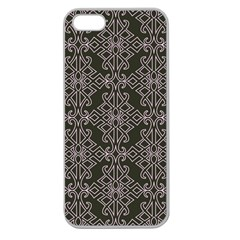 Line Geometry Pattern Geometric Apple Seamless Iphone 5 Case (clear) by Amaryn4rt