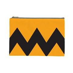 Minimal Modern Simple Orange Cosmetic Bag (large)  by Jojostore