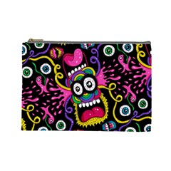Monster Face Mask Patten Cartoons Cosmetic Bag (large)  by Jojostore