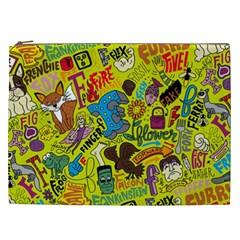 F Pattern Cartoons Cosmetic Bag (xxl)  by Jojostore