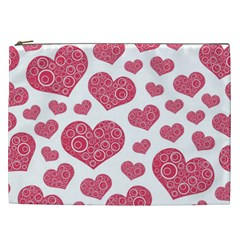Heart Love Pink Back Cosmetic Bag (xxl)  by Jojostore