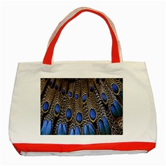 Feathers Peacock Light Classic Tote Bag (red)